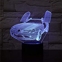 Bedside lamp Colorful Glowing Base 3D Car Lamp with Night Light Led Night Light Lamp