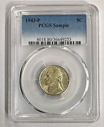 1943 P Jefferson War Nickel 5c Sample Coin PCGS
