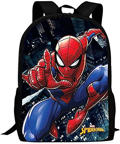 Spider-Man Peter Parker Mochila escolar para niños, mochila escolar, mochila para niños, mochila escolar, regalos para la escuela primaria (Spider de 15,13 pulgadas)