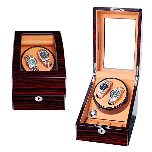 FGDSA Caja Automática Enrollador Reloj, Caja De Almacenamiento De Rotación De Relojes Caja De Presentación Turner De Reloj Automático Caja De Almacenaje De Madera 2 + 3 Máquina Automática