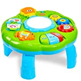 HERSITY Baby Spieltisch Musikspielzeug Spiel Lerntisch Activity Table Babyspielzeug Geschenk für Kinder ab 18 Monaten 1 Jahr