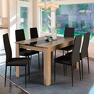 Amazon Fr Table A Manger En Bois
