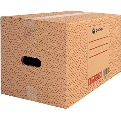 packer PRO Pack 20 Cajas Carton para Mudanzas y Almacenaje Ultra Resistentes con Asas 430x300x250mm
