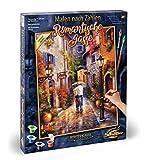 Noris Spiele MNZ-Romantische Schipper Paint Numbers – Romantic 609130788 Gasse, 40 x 50 cm Multicoloured, Colourful