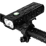 KINOEE Kit d'Éclairage Vélo Rechargeable, Lampe de Vélo Avant à LED Puissant 1000 lumens, 3 Modes de luminosité, Convient aux Amateurs de Conduite Autonome