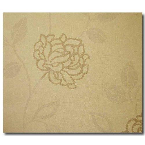 Tapeten Satintapeten Floral beige braun