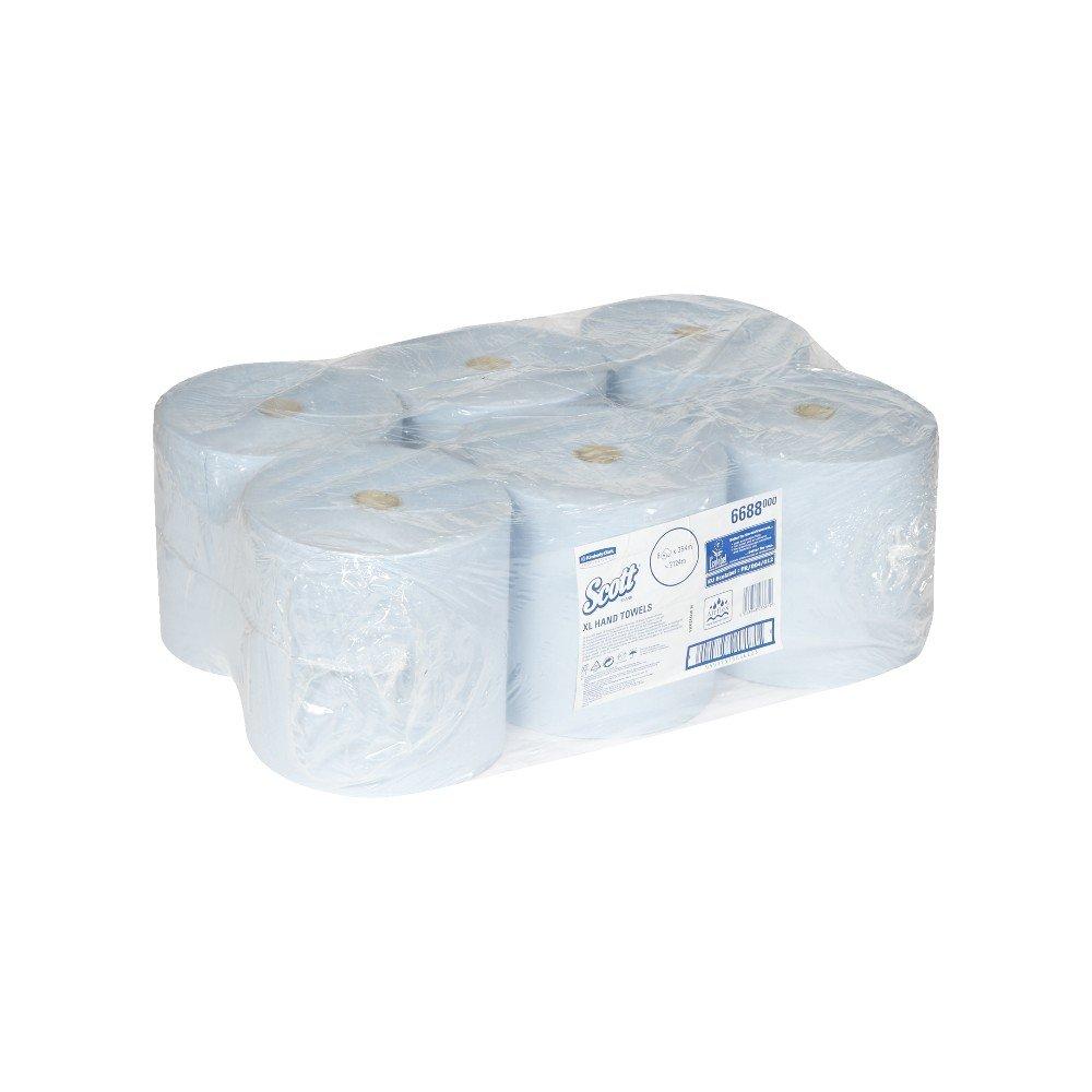 6 Rolls x 354 m Rolled Hand Towels Scott XL 1 Ply 6688 Blue