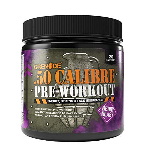 Grenade 50 Calibre Pre Workout Devastation - Berry Blast, 20 Servings