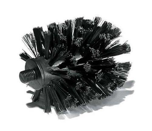 koziol WC-Ersatzbürstenkopf Außengewinde Toq und Mary Loo, Polypropylen, schwarz, 7.7 x 7.7 x 10 cm