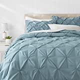 Amazon Basics Pinch Pleat Down-Alternative Comforter Bedding Set -...