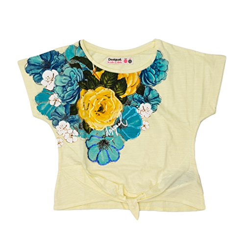 Desigual T-Shirt bebé-niñas Small Amarillo