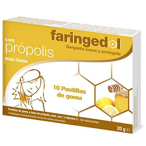 Faringedol Rubberen tabletten voor hals, citroen- en honingsmaak, 50 g, 10 stuks
