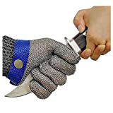 OKAWADACH Cut Resistant Glove-Stainless Steel Wire Metal Mesh Butcher...