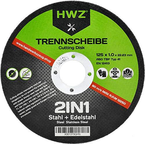Discos de corte HWZ (100 unidades, 125 x 1,0 mm, extrafinos, para...