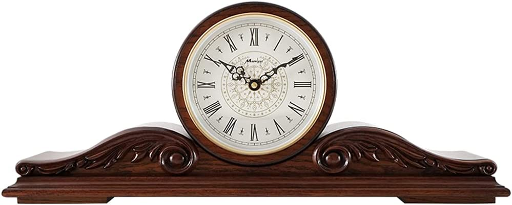Red Oak Ranking TOP13 Sale special price Fireplace Clock Hourly Mantel L for Function Chime