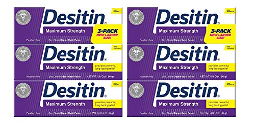 Desitin Baby Diaper Rash Maximum Strength Original Paste 4.8 oz. (6 Pack)