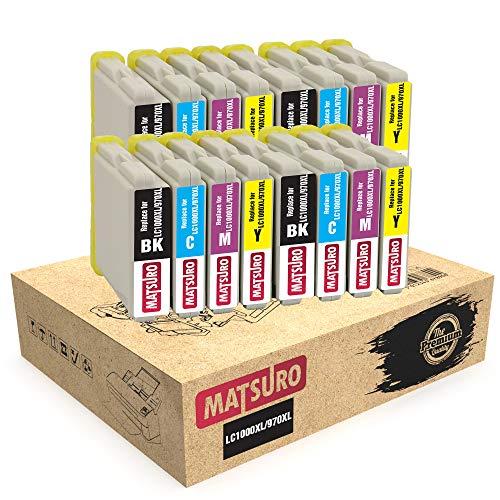 Matsuro Original | Compatible Cartuchos de Tinta Reemplazo para Brother LC1000XL LC970XL LC1000 LC970 (4 Sets)