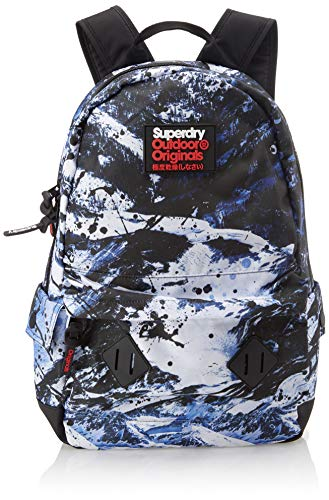 Superdry - Abstract Alpine Mountain Backp, Mochilas Hombre, Gris (Ice Mountain), 30x45x15 cm (W x H L)