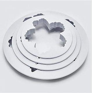 Hotaden 4pcs Peonia Torta Stampa Fustellatura Peonia Petalo del Fondente della Muffa Zucchero Torta Cookie Cutter Goffratr...