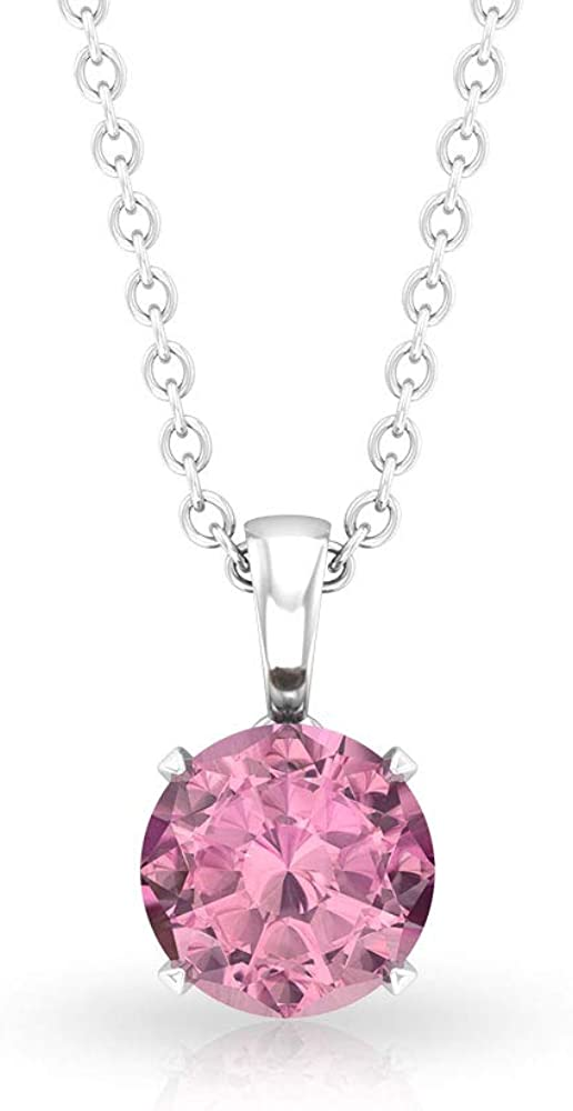 Pink 3 4 CT Solitaire Pendant Nat Purchase Tourmaline Certified Selling and selling Gemstone