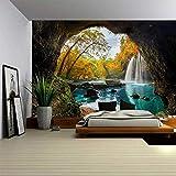 BBAGG Natur Wandbehang Wandteppich Baum Wald Sternenhimmel Psychedelischer Teppich Wandtuch Wandteppiche Tenture Hippie Mandala Tapiz Landschaft-11_150 * 130