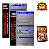 BBQ NATION Indoor Fridge Magnets- Economy Meat Temperature for Smoking and BBQ Grilling- Free BBQ Recipe Book