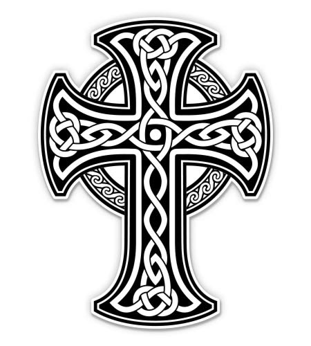 GT Graphics Express Celtic Cross - 7' Vinyl Sticker - for Car Laptop I-Pad - Waterproof Decal