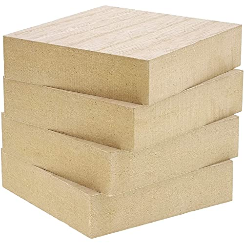 Unfinished Wood Blocks for Crafts, 1 Inch Thick...