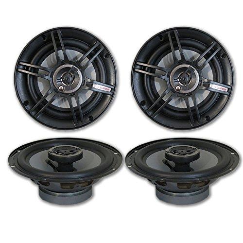 "4 x Crunch 6.5"" 3-Way Car Audio coaxial Speakers 6-1/2"" 300W"