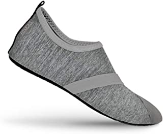 Live Well Women's Foldable Active Lifestyle Minimalist Footwear Barefoot Yoga Water Everyday Shoes Grey