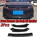 BNHHB Auto Front Stoßstange Splitter Lip Body Kit Spoiler Diffusor Guard Cover Trim Für Golf Mk7 Mk7.5 GTI R GTD 2014 2015 2016 2017, Deflector Lips Protector