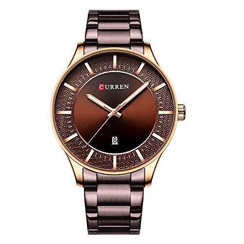 Relojes de Pulsera de Negocios de Moda de Cuarzo clásico analógico para Hombre-C