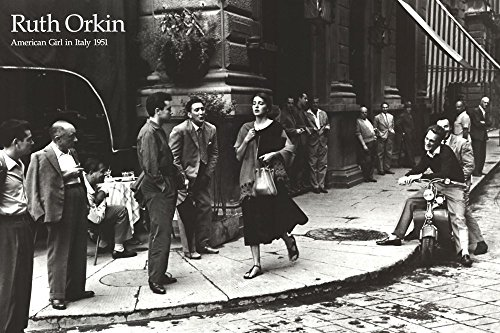 American Girl in Italy, 1951 by Ruth Orkin Art Print, 36 x 24 inches
