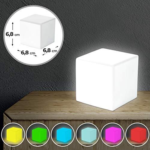 Jago - Pequeña lámpara LED ambiental blanca forma