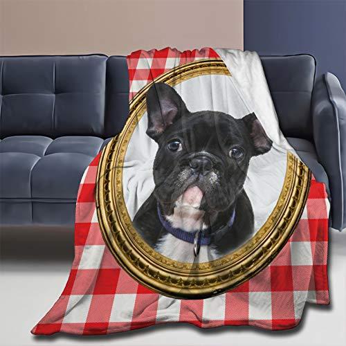 French Bulldog Blanket Super Soft Lightweight Flannel Throw Blanket for Bed Sofa Travel All Season 50'x40'