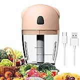 Mini tritatutto elettrico, 260 ml, sminuzzatore, 3,7 V, mini frullatore portatile con 3 lame metalliche, USB, ricaricabile, per noci cioli, frutta, carota, carne, alimenti per bambini