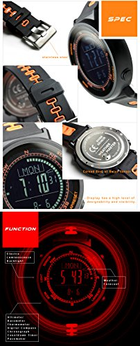 [ラドウェザー]腕時計スイス製センサー搭載デジタルコンパス高度計気圧計温度計天気予報機能ペースメーカー