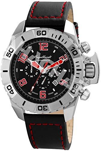 Engelhardt Herren Analog Mechanik Uhr mit Leder Armband 388921229003
