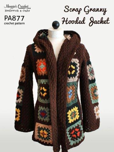 Crochet Pattern Granny Square Hooded Coat PA877-R (English Edition)
