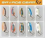 Savage Gear Nails Micro Spoon Kit 2,5g / 3,5g - 10 Blinker für Forellen, Barsch, Zander, Miniköder, Miniblinker, Forellenköder, Forellenblinker, Barschköder, Barschblinker
