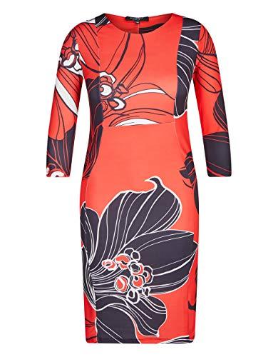 Bexleys Woman by Adler Mode Damen 1 TLG. Kleid rot/schwarz/wefiß 42