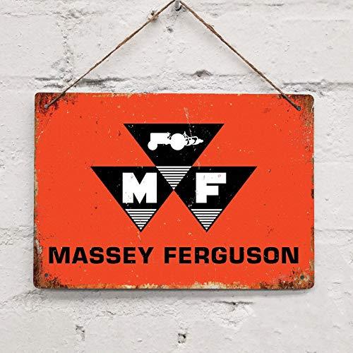 SIGNCHAT Massey Ferguson Vintage Retro Blechschild Metalldekor Metallschild Wand Metall Blechschild 20,3 x 30,5 cm