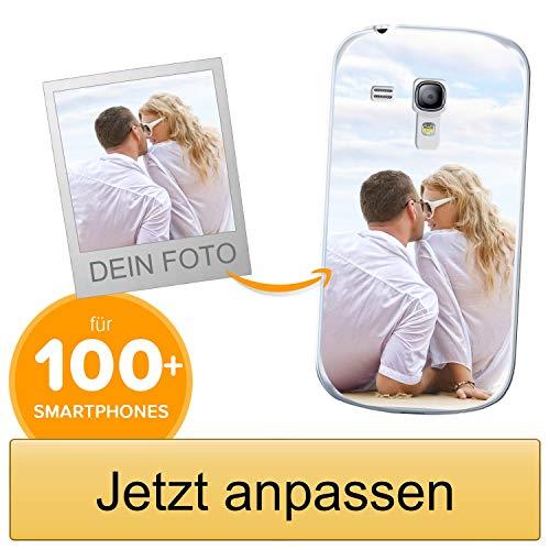 Coverpersonalizzate.it Handyhülle für Samsung Galaxy S3 Mini mit Foto-, Bildern- oder Text selbst gestalten- Die Handyhülle ist aus weichem transparentem TPU-Silikon-Gel Material