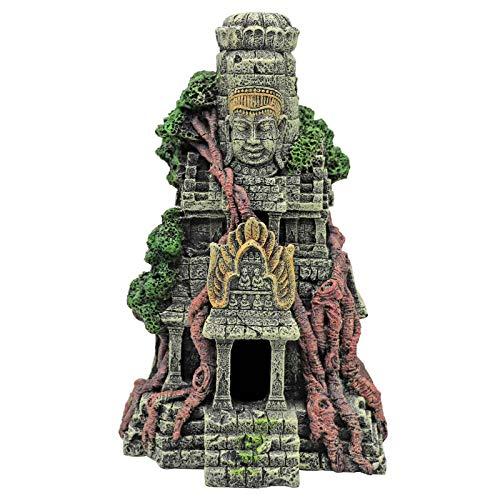 MYB Supplies Fish Tank Cave Decorations, Buddha Statue Urban Architecture, Aquarium Ornaments 27x15x9.3cm