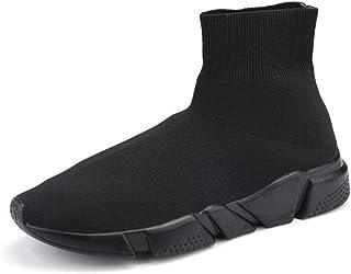 Unisex Scarpe da Ginnastica da Passeggio con Taglio Alto Scarpe Calze Comfort Sneakers da Ginnastica in Maglia