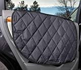 Dog Car Door Cover for Cars, Trucks and SUVs - USA Based Company - Two Door Guards (One for Each Side) (Black)