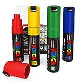 Uni Posca–Pc-7m Art Peinture marqueurs–Lot de 4–Portefeuille en plastique–Primary Tones