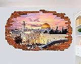 Wandtattoo Jerusalem Wandaufkleber 3D-Effekt Kunst Poster
