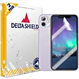 DeltaShield Screen Protector for Apple iPhone 11 (6.1 inch) (2-Pack) (Case Friendly Version + Camera Lens) BodyArmor Anti-Bubble Military-Grade Clear TPU Film