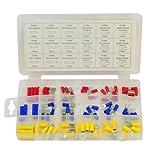 Rolson 61226 - Scatola in plastica con assortimento di capicorda a forcella, 76 pezzi